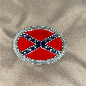 NWT, Women's small Rebel flag pewter belt buckle